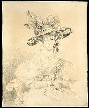 Elizabeth Eastlake - Lady Elizabeth Eastlake, portrait sketch, 1831, Victoria & Albert Museum