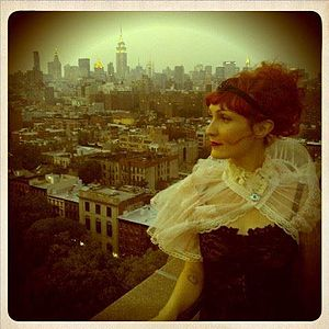 Emma Dean (musician) - Emma Dean backdropped by the New York City skyline 2013