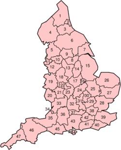 Os condados cerimoniais da Inglaterra