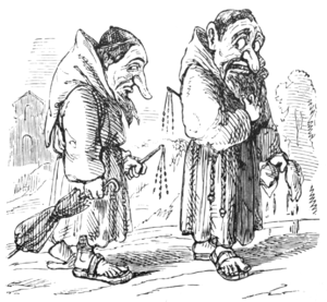 English Caricaturists, 1893 - Monks of the Severest Order of Flagellants.png