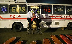 Entrance of the Injured People of the earthquake in Kermanshah to Mehrabad airport 10.jpg