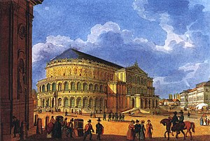 Semperoper - The first opera house around 1850