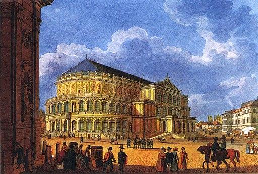 Erstes Opernhaus Sempers ca1850 1860