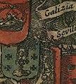 Escudo da Galiza no portolano Pascaarte van alle de Zècusten van Europa de Willem Blaeu (1621).jpg