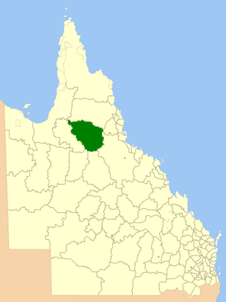Shire of Etheridge - Location within Queensland
