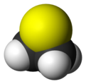 Spacefill model of thiirane