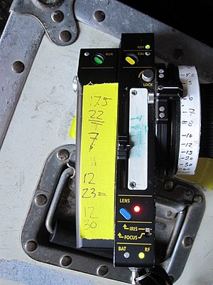 Gaffer tape - Yellow gaffer tape used for marking a camera department remote on a film set