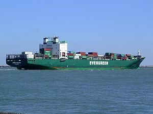 Ever Deluxe p8 approaching Port of Rotterdam, Holland 04-Aug-2007.jpg
