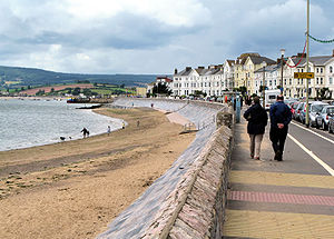 Exmouth - The seafront, looking west towards Dawlish Warren