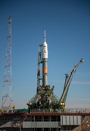 Soyuz TMA-16M - Image: Expedition 43 Soyuz Rollout (201503250027HQ)