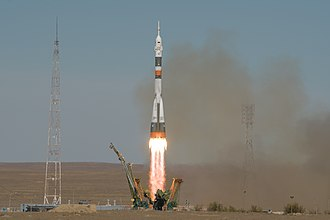 Soyuz MS-10 - Launch of the Soyuz-FG rocket carrying the MS-10 spacecraft