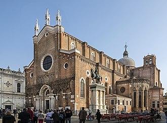 Santi Giovanni e Paolo, Venice - Image: Exterior of Santi Giovanni e Paolo (Venice) from Campo San Zanipolo