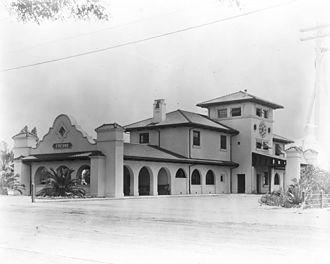 Santa Fe Passenger Depot (Fresno, California) - Depot circa 1910