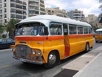 Malta bus - A classic Malta bus