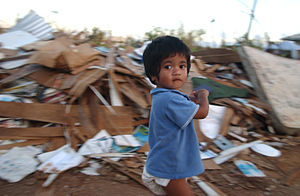 English: Maite, Guam--December 23, 2002--A chi...