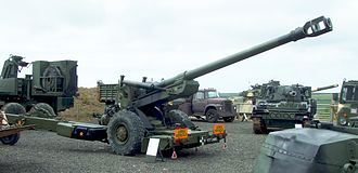 FH70 - FH-70 Howitzer in North Cornwall Tank Museum Collection.