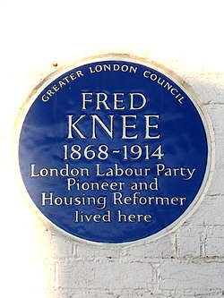 Fred knee 1868 1914 london labour party pioneer and housing reformer lived here