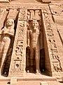 Facade Detail, Temple of Hathor and Nefertari, Abu Simbel, AG, EGY (48016660323).jpg