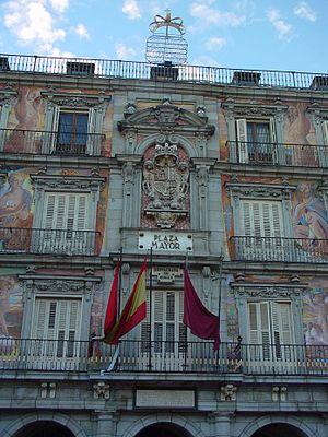 Fachada de la Casa de la Panader%C3%ADa en la Plaza Mayor de Madrid