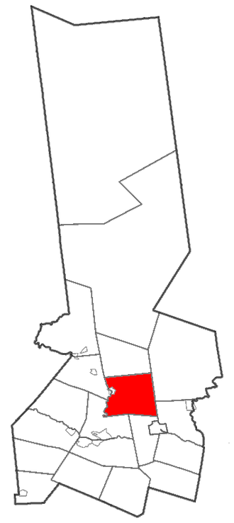 Fairfield, New York - Herkimer County map with the Town of Fairfield in Red