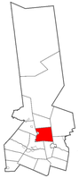 Herkimer County map with the Town of Fairfield in Red