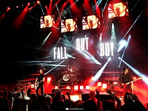Fall Out Boy - Fall Out Boy performing at a concert during the Monumentour