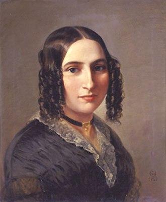 Fanny Mendelssohn - Fanny Hensel, 1842, by Moritz Daniel Oppenheim