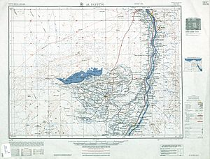 Faiyum Oasis - map sheet showing Faiyum Oasis