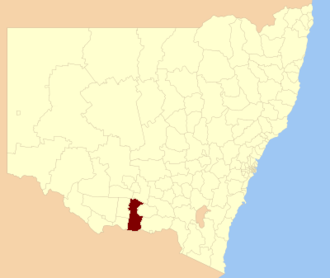 Federation Council, New South Wales - Location in New South Wales