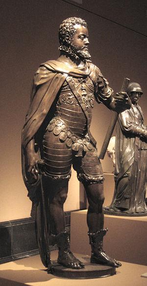 Cultural depictions of Philip II of Spain - Image: Felipe II (Leone y Pompeo Leoni, Prado E 272) 01b