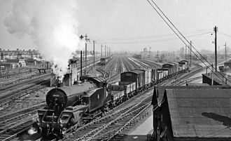Feltham - Feltham marshalling yard (1918-1969) seen here in 1958.