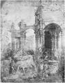 Filippino Lippi, Tod des Laokoon, Feder laviert, Florenz, Uffizien Gab. dis. 169 F.png