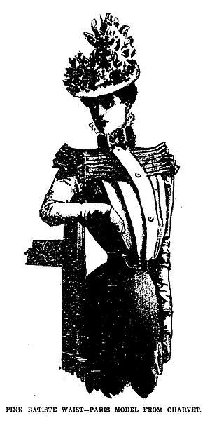 Batiste - Shirt-waist from Charvet in fine batiste (1898)