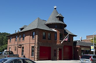 Cliffside Hose Company No. 4 - Image: Fire House from a view