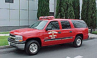 Fire chief's vehicle - San Diego Fire Chief Chevrolet Suburban SUV
