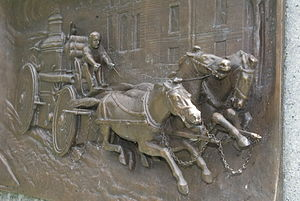 Firemen's Memorial (Boston) - Image: Firemen's Monument, Boston by John A Wilson Panel 1