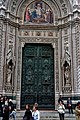 Firenze - Florence - Piazza di San Giovanni - View East on the Main Portal in the Emilio De Fabris Façade - Bronze Doors 1903 by Augusto Passaglia.jpg