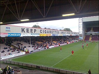 Motherwell - The East Stand at Fir Park Stadium, home of Motherwell Football Club