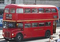 First London Routemaster bus RM1627 (627 DYE), Trafalgar Square, heritage route 9, 13 June 2011 (1).jpg