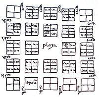 Primer plano de Caracas por el Gobernador Juan de Carvajal, 1578