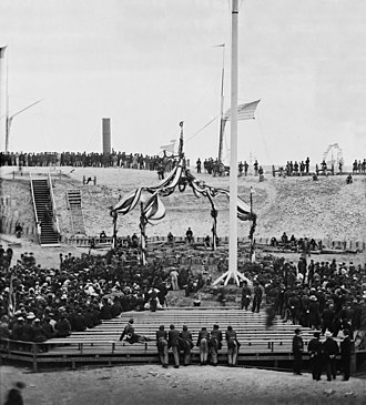 Second Battle of Fort Sumter - Flag-raising over Fort Sumter, April 14, 1865