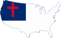Flag map of the United States (Christian Flag).png