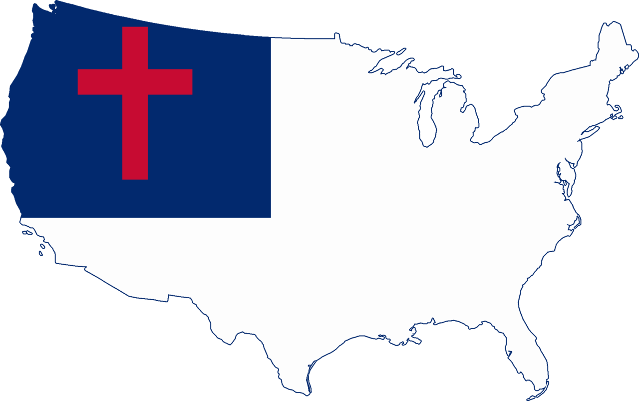 FileFlag map of the United States Christian