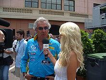 Interview de Flavio Briatore par une journaliste de la télévision suédoise.
