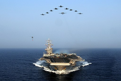 Flickr - Official U.S. Navy Imagery - Aircraft from Carrier Air Wing 7 fly over USS Dwight D. Eisenhower. (1)