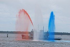 Flickr - The U.S. Army - Red, white ^ blue water salute.jpg