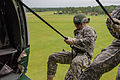 Florida Army National Guard Soldiers rappel 70-ft from a UH-60 Black Hawk helicopter during the Air Assault Course at Camp Blanding Joint Training Center, Fla., July 1, 2013 130701-A-PO157-227.jpg