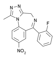 Flunitrazolam structure.png