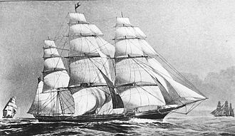 Flying Cloud (clipper) - Drawing of Flying Cloud from a 1919 book on China Clippers