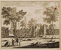 Fontaine auprès de laquelle Philippe baptisa l'Eunuque de la reine Candace - Bruyn Cornelis De - 1714.jpg
